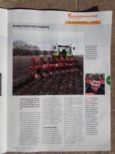 In het vak blad Boerderij een goed redactioneel stuk over onze omgebouwde aangepaste Ovlac Eco ploeg. maart 2017